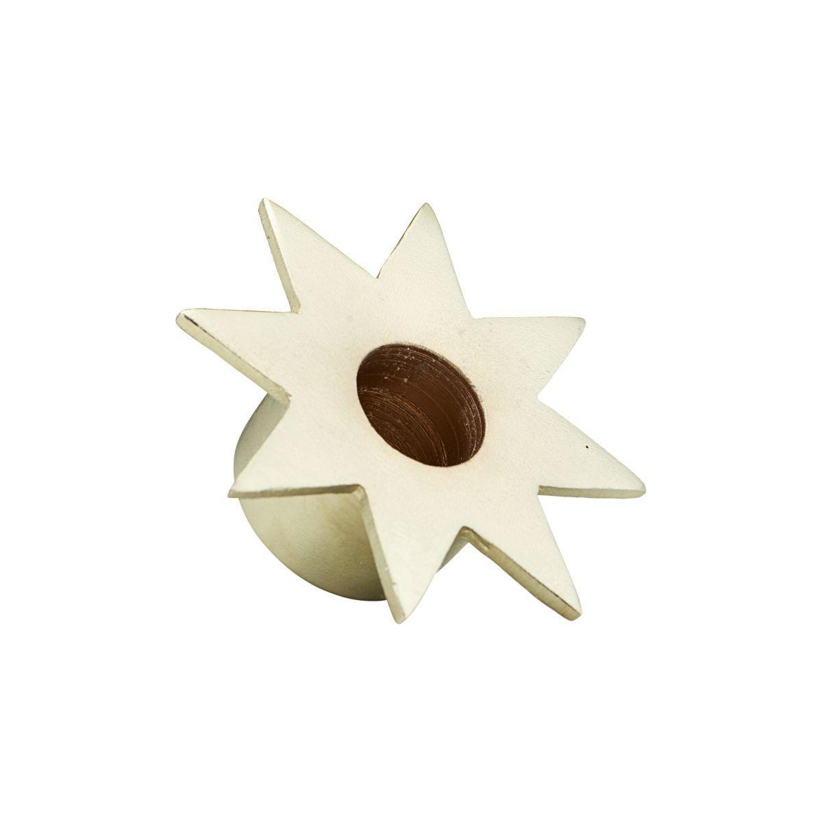 House Doctor Kovový zlatý svícen Star, zlatá barva, kov