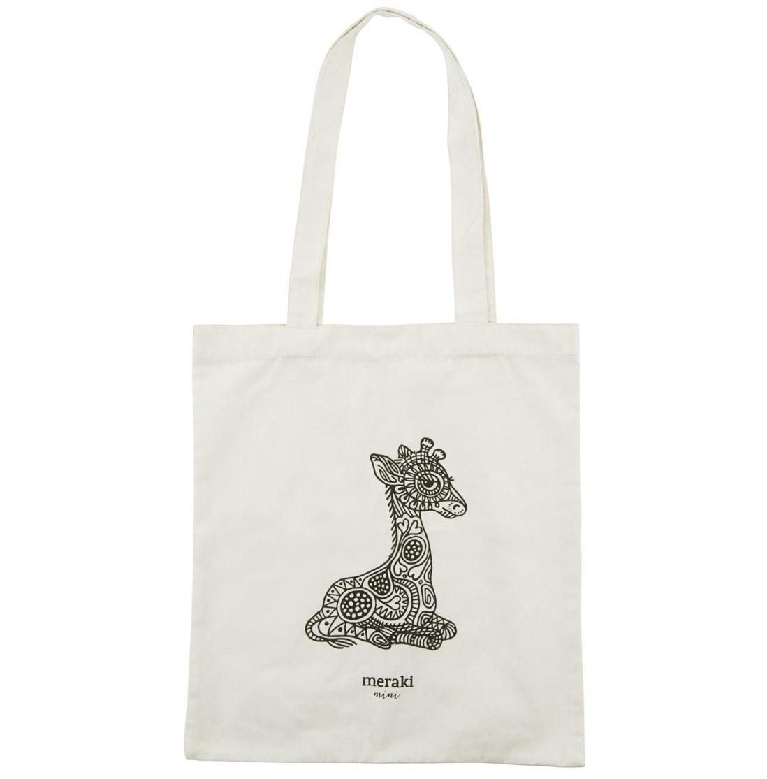 meraki Plátěná taška Meraki Mini, béžová barva, černá barva, krémová barva, textil