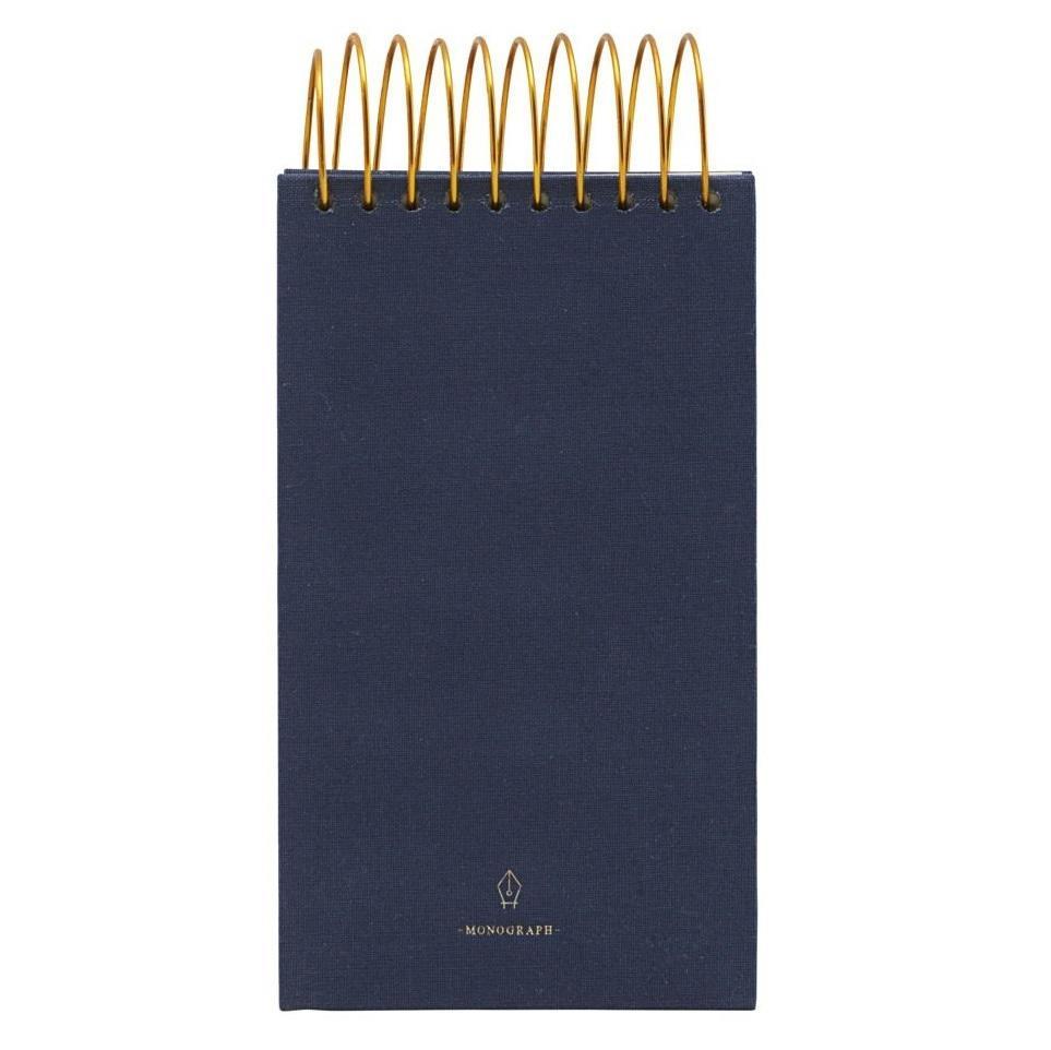 MONOGRAPH Poznámkový blok Spiral Blue 300 stran - úzký, modrá barva, zlatá barva, papír