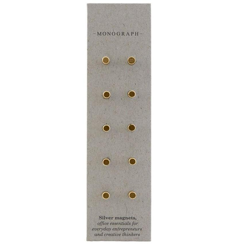 MONOGRAPH Mini magnety Neo Brass - sada 10 ks, zlatá barva, kov