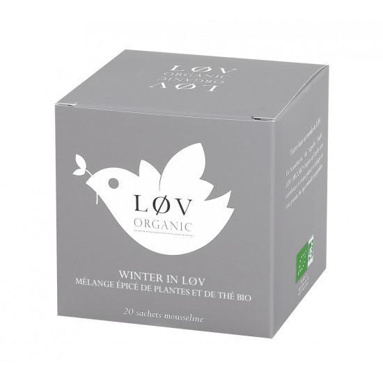 Løv Organic Černý čaj Winter In Løv - 20 sáčků, šedá barva, papír