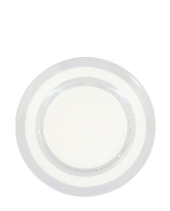 Krasilnikoff Dezertní talíř Grey Stripes, šedá barva, porcelán