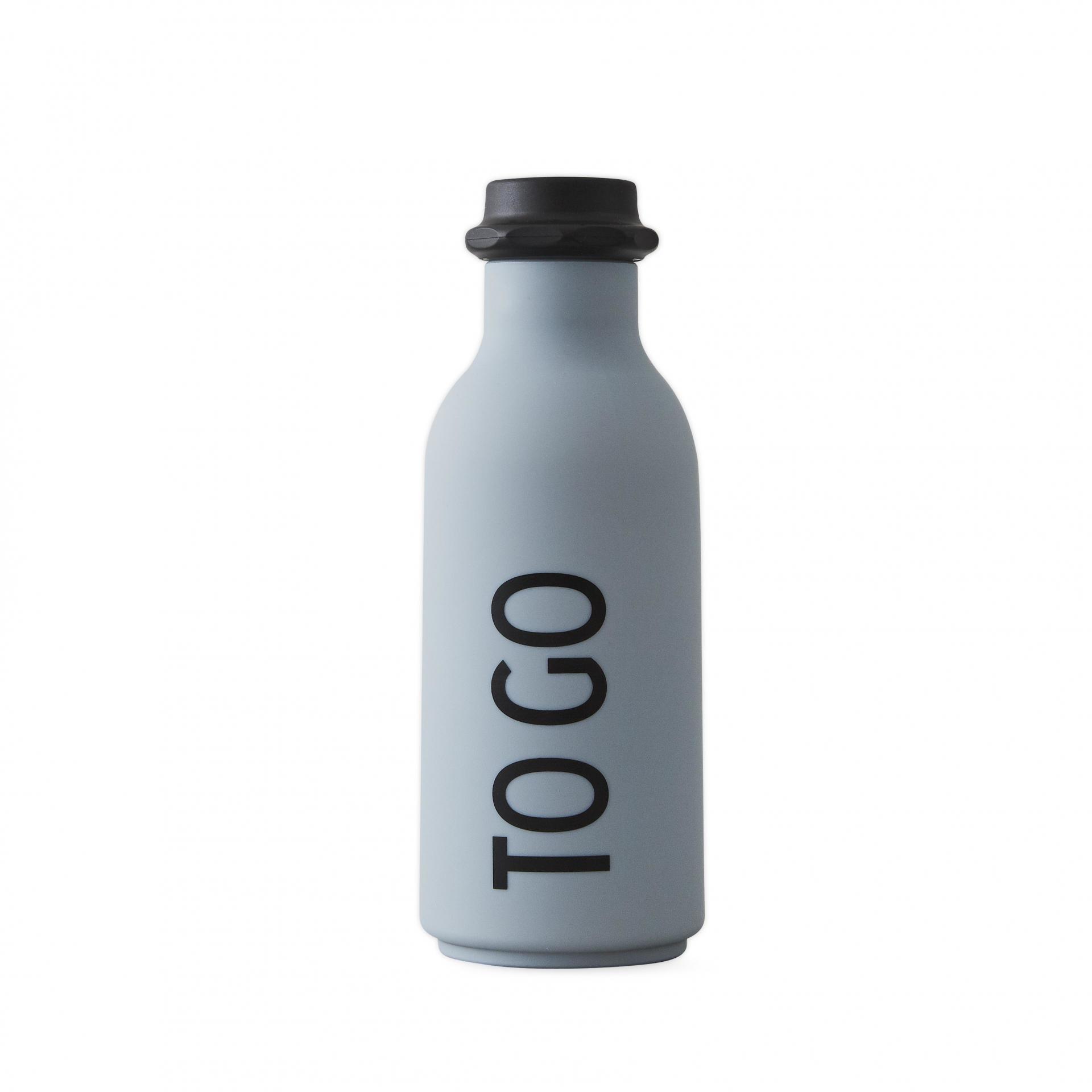 DESIGN LETTERS Lahev na vodu To Go Grey 500ml, šedá barva, plast