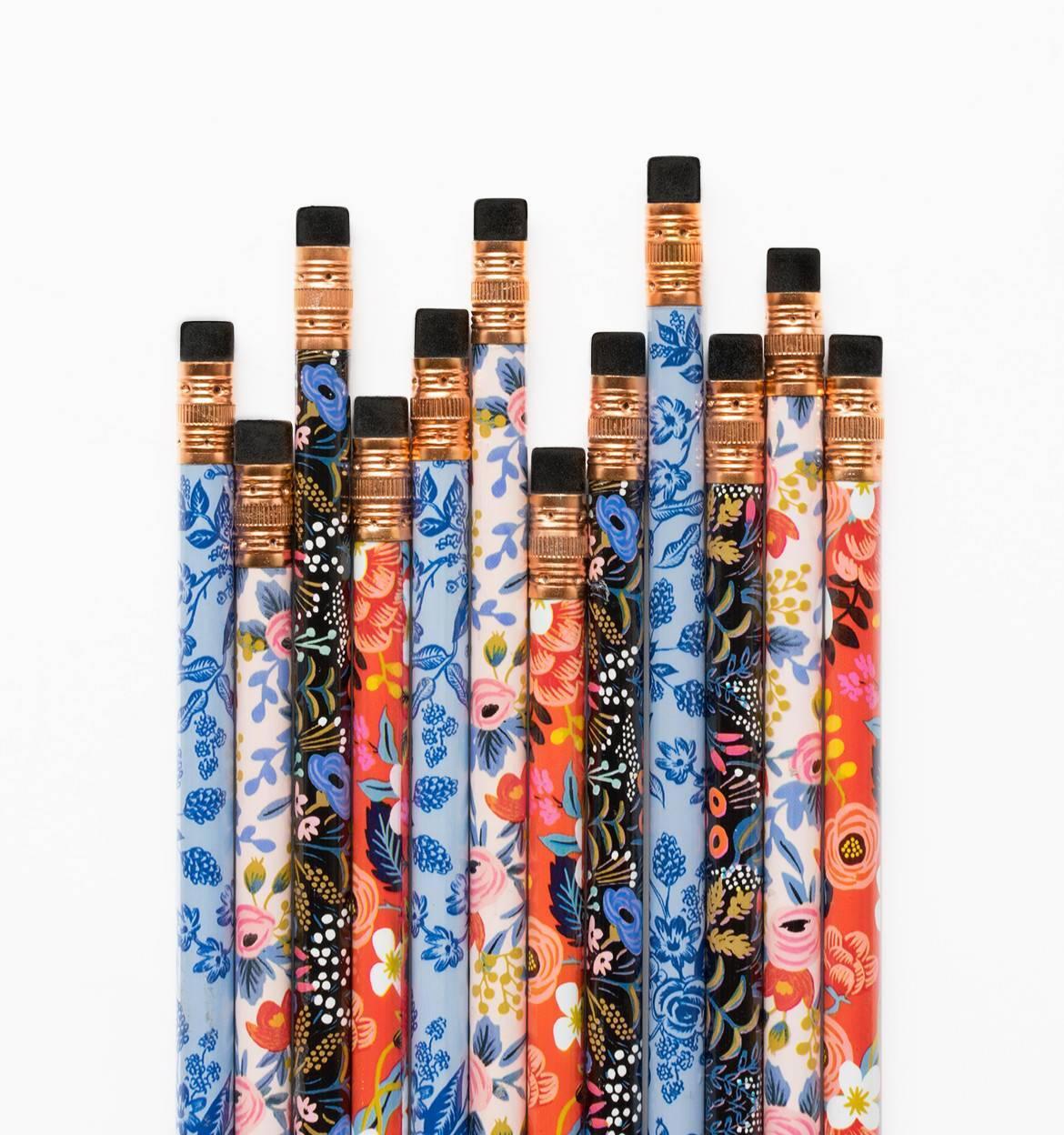 Rifle Paper Co. Tužky Floral - set 12 ks, červená barva, modrá barva, multi barva, dřevo