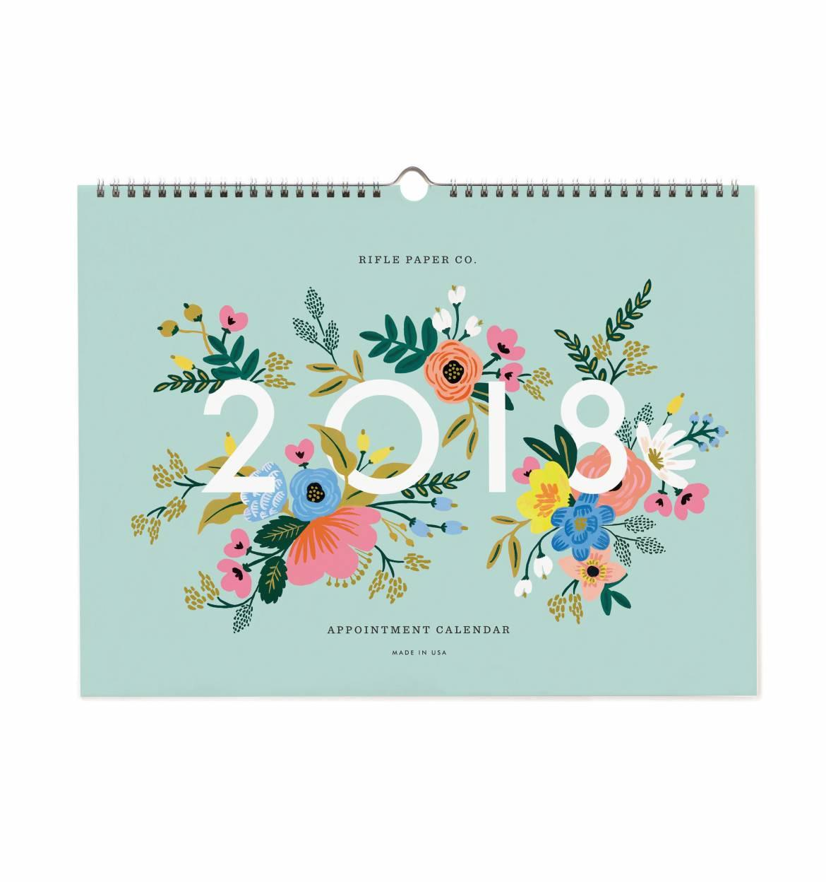 Rifle Paper Co. Závěsný plánovací kalendář Appointment 2018, multi barva, papír