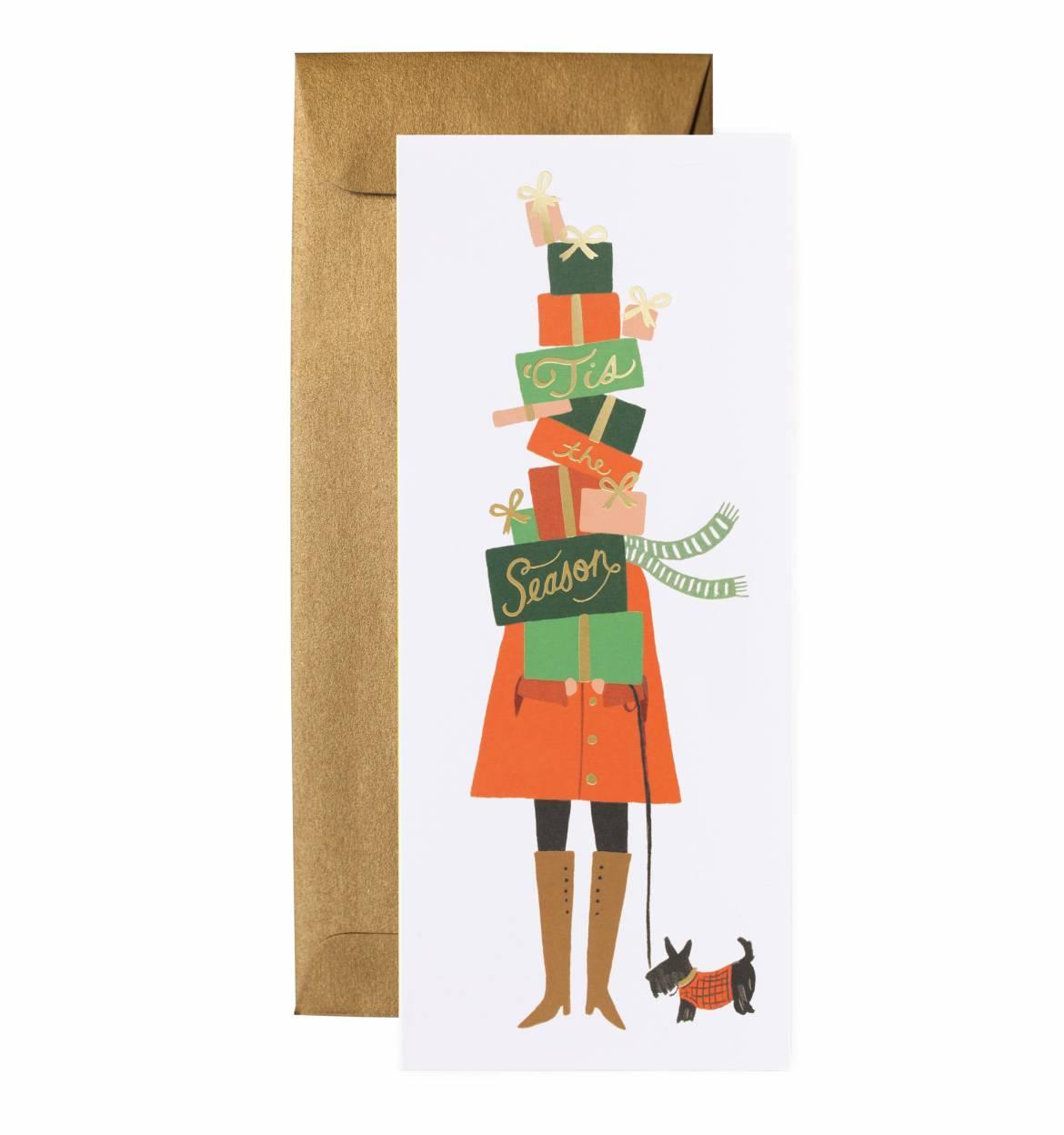 Rifle Paper Co. Vánoční přání s obálkou Seasons of Giving, červená barva, zelená barva, multi barva, papír