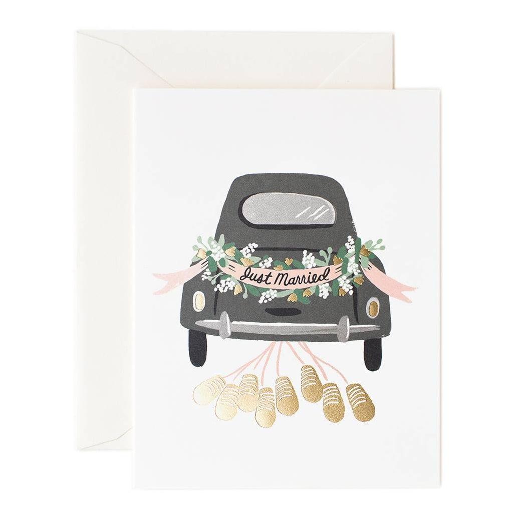 Rifle Paper Co. Svatební přání s obálkou Just Married, krémová barva, papír