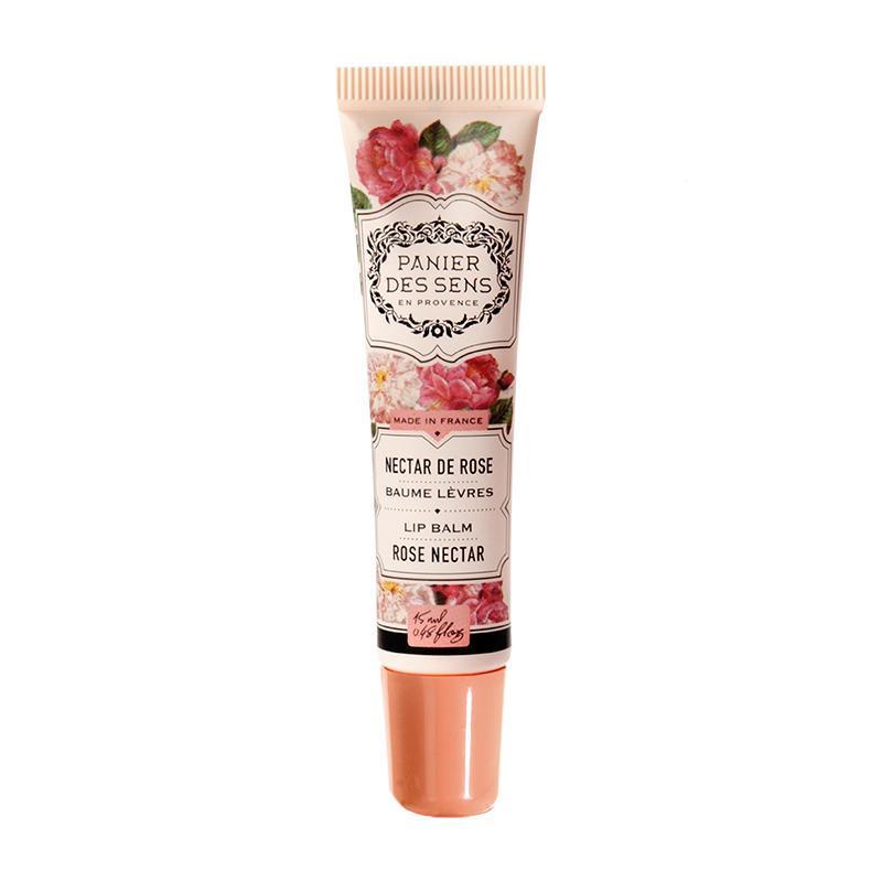 Panier des Sens Balzám na rty Rose Nectar, oranžová barva, papír - Panier des Sens Hydratační Balzám na rty Růžový Nektar 15 ml