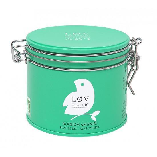 Løv Organic Rooibos čaj Almond - 100 g, zelená barva, kov
