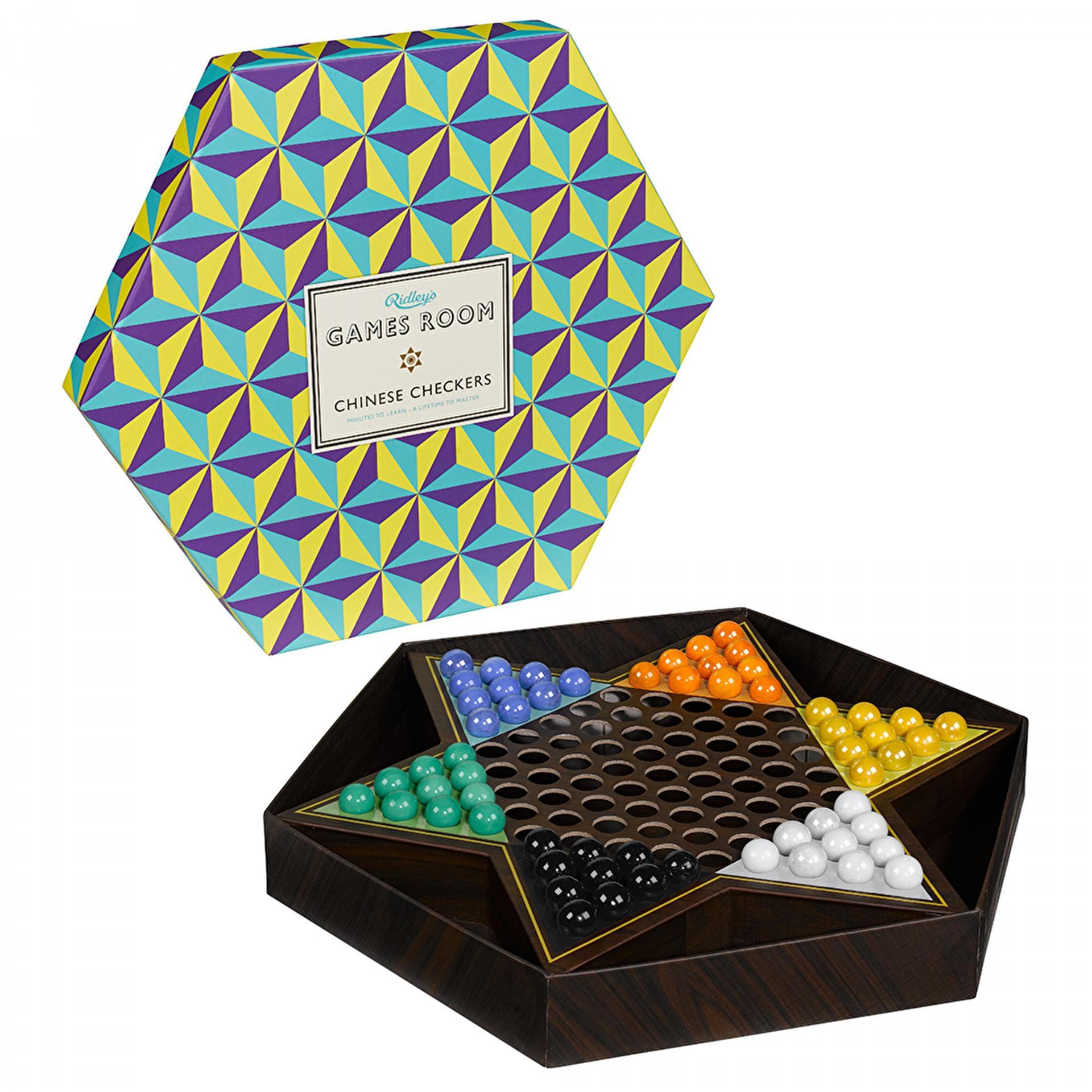 Ridley's Games Room Desková hra - čínská dáma, fialová barva, žlutá barva, multi barva, papír
