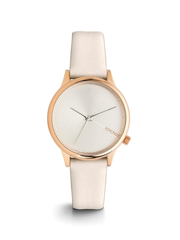 Komono Dámské hodinky Komono Estelle Deco Off White, bílá barva, zlatá barva, kov, kůže