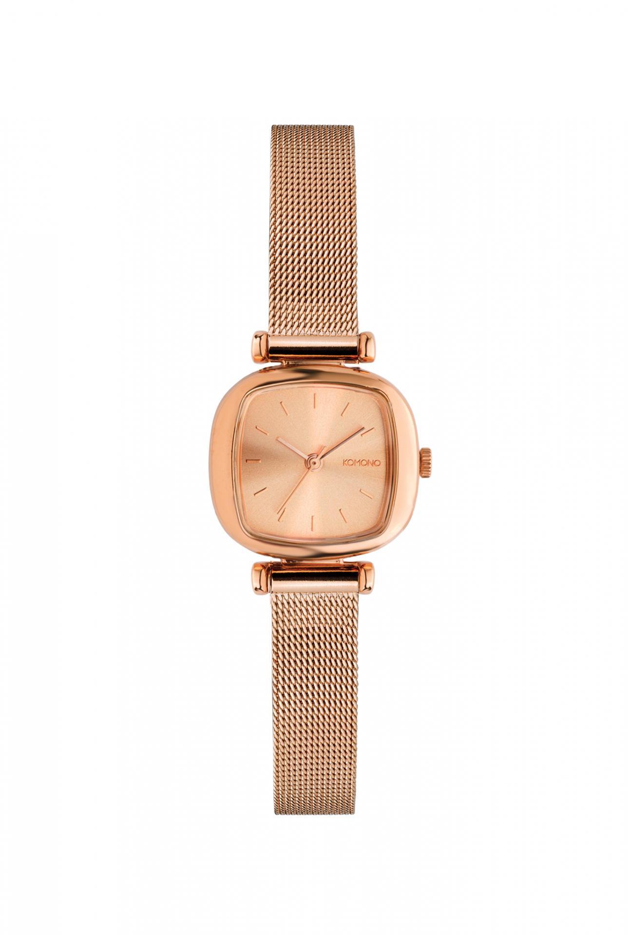 Komono Dámské hodinky Komono Moneypenny Royale Rose Gold, zlatá barva, kov