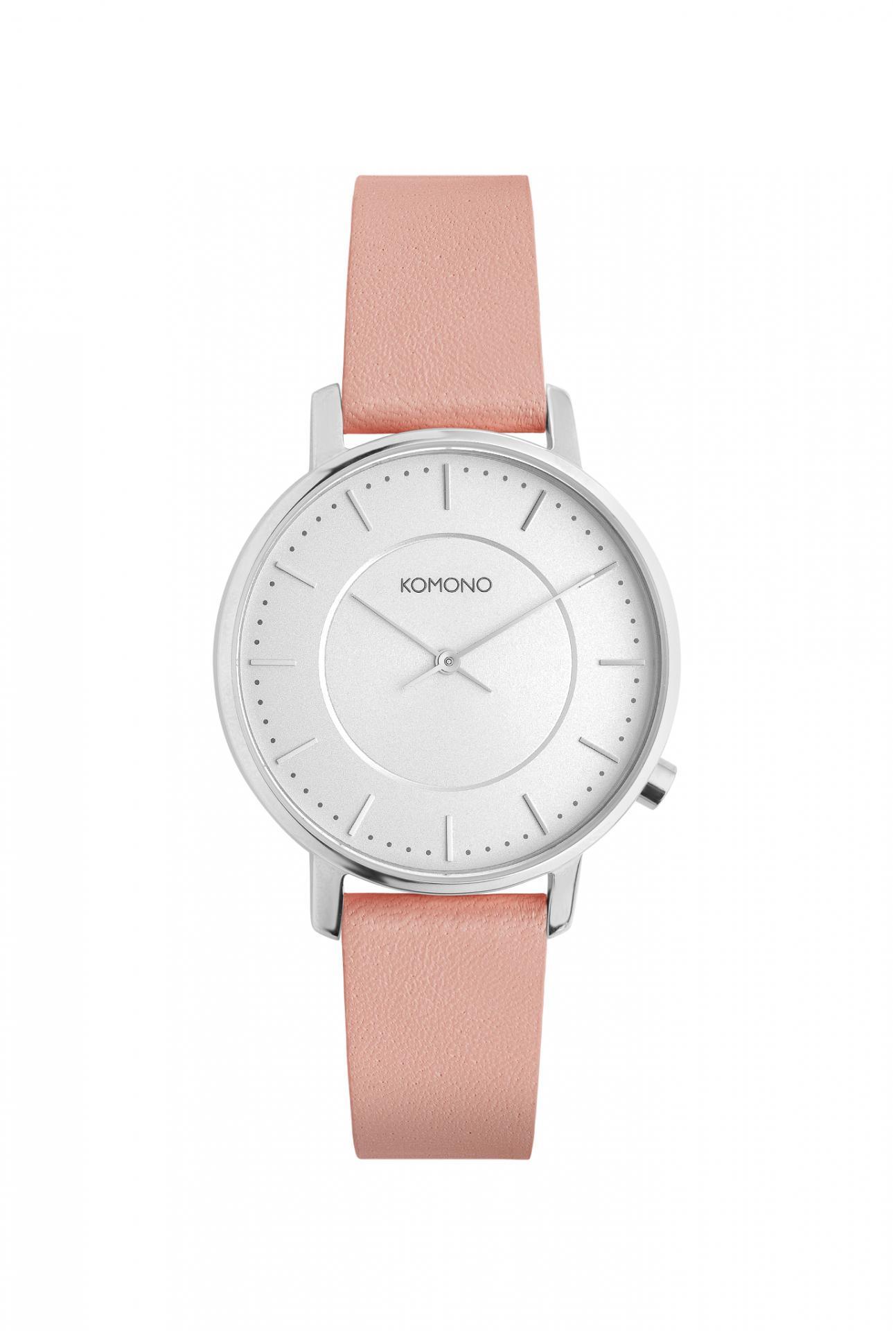 Komono Dámské hodinky Komono Harlow Pastel Misty Rose, růžová barva, kov, kůže