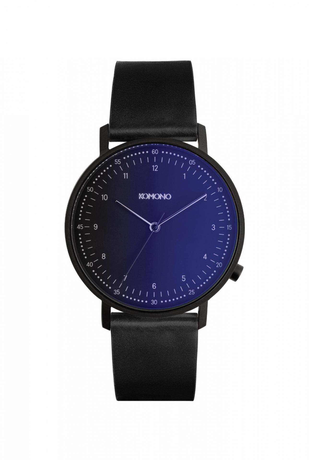 Komono Pánské hodinky Komono Lewis Midnight, černá barva