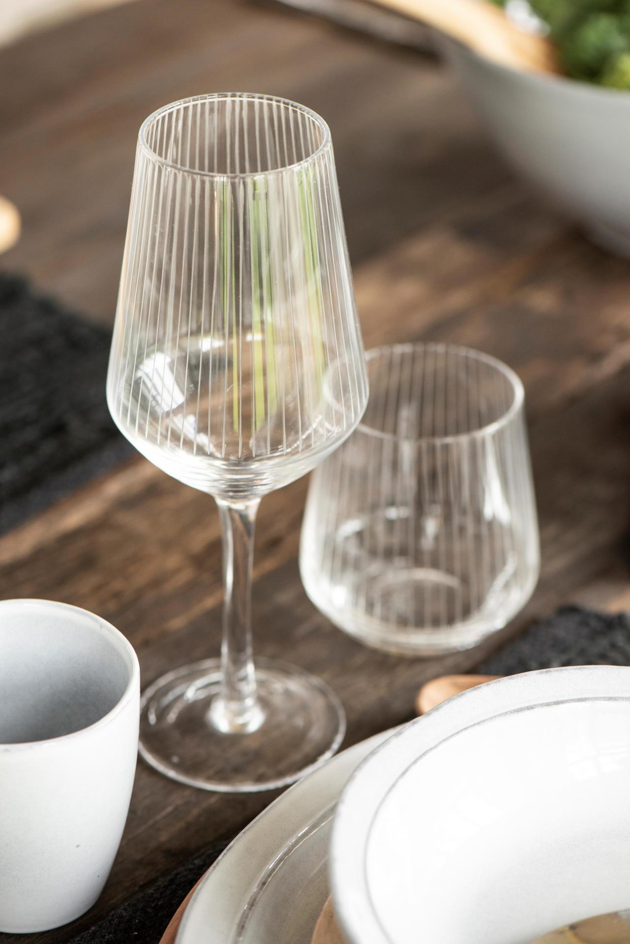 IB LAURSEN Sklenička na bílé víno Vega, čirá barva, sklo