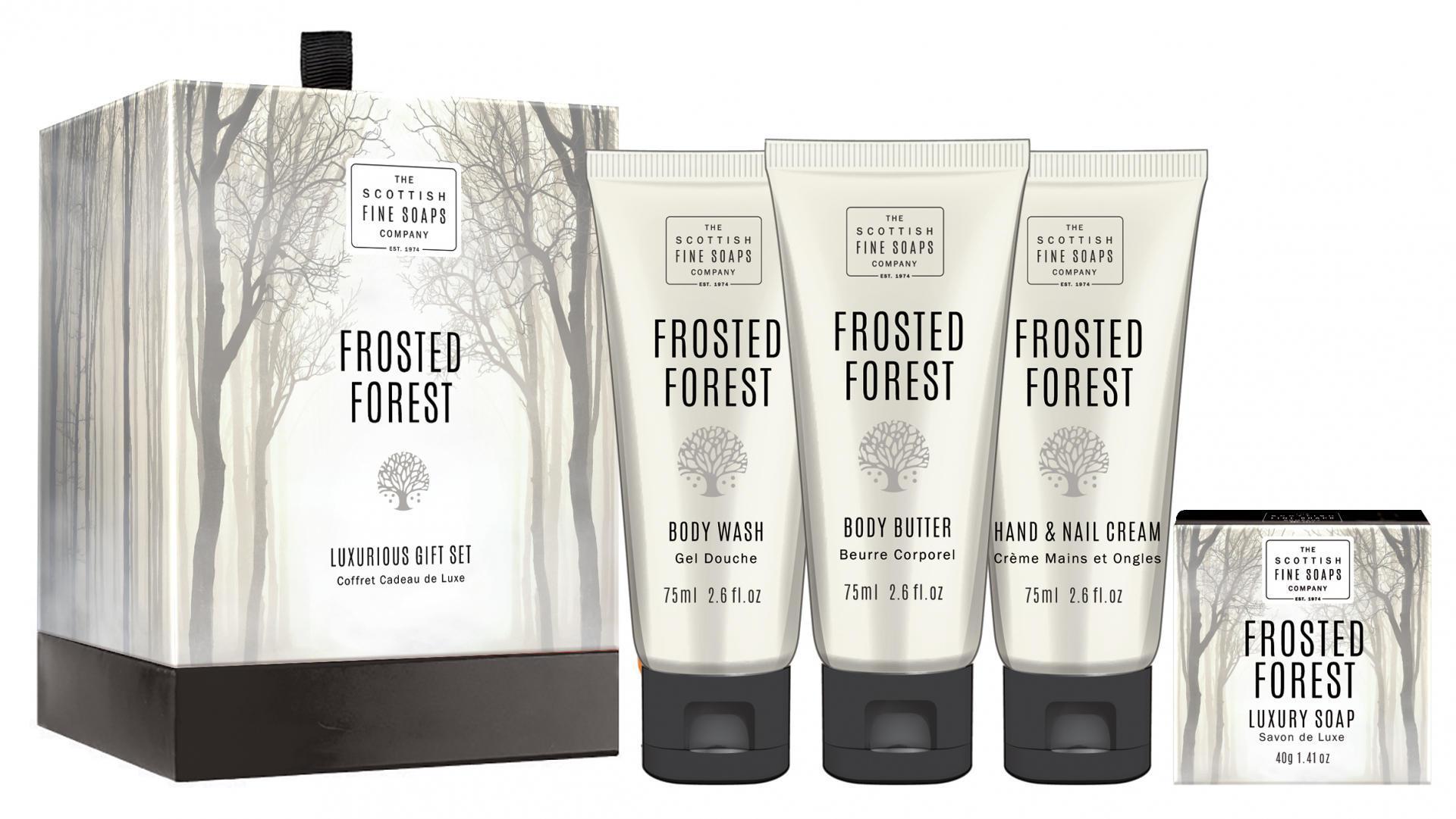 SCOTTISH FINE SOAPS Dárkový set kosmetiky Frosted Forest, béžová barva, papír