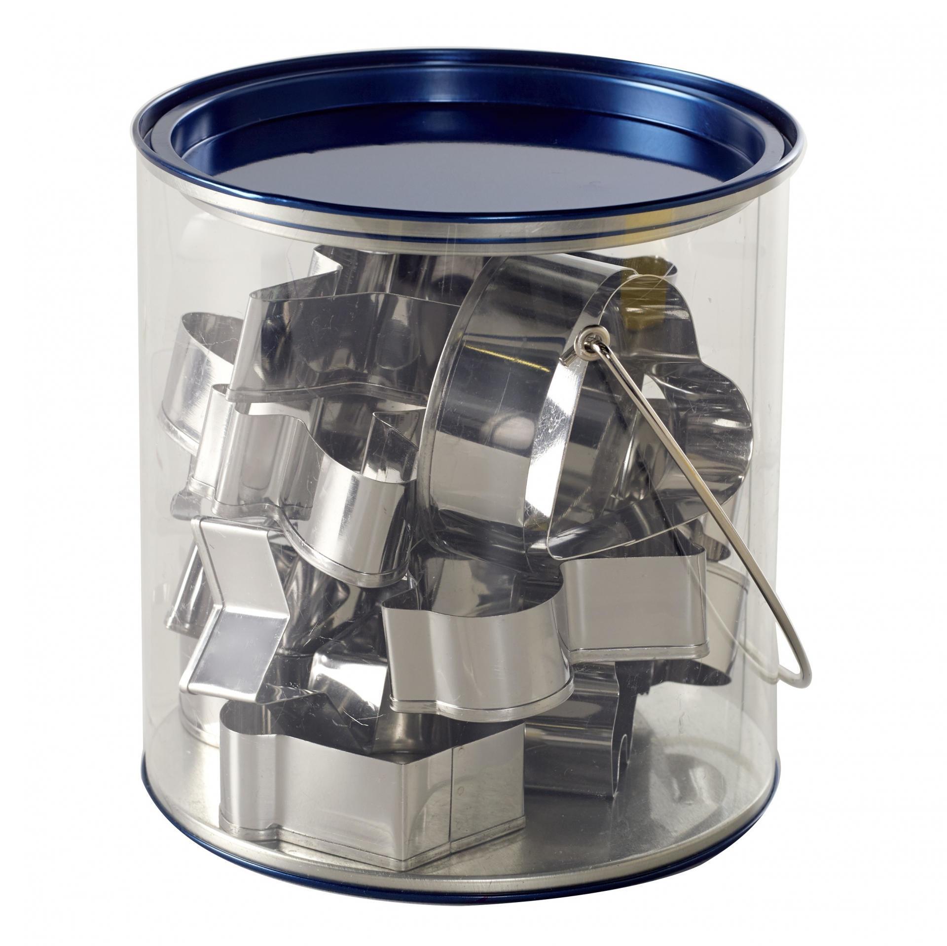 Nordic Ware Kyblík s nerez vykrajovátky - 15 ks, stříbrná barva, kov, plast