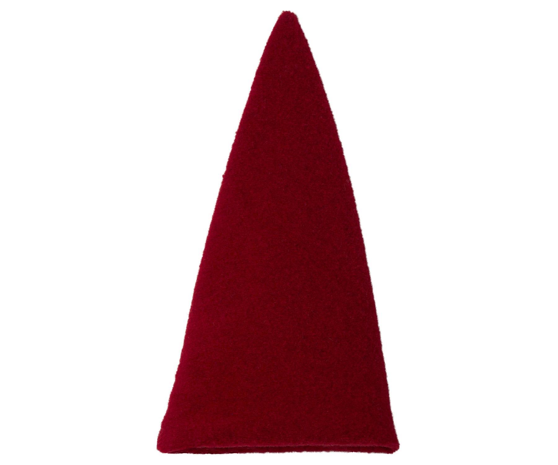 Maileg Červená čepice Pixy, červená barva, textil