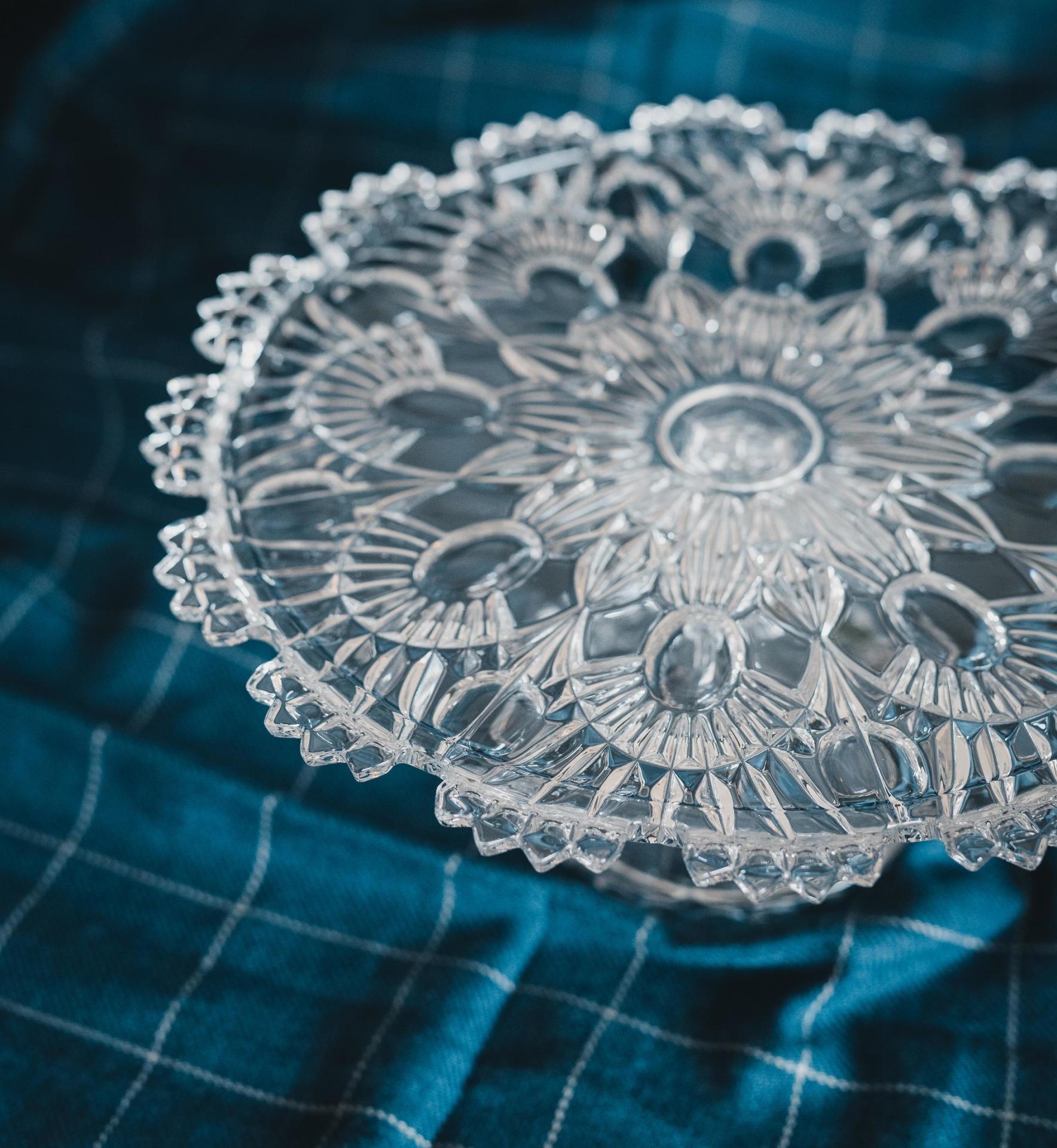 CRYSTAL BOHEMIA Křišťálový stojan na dort Bohemian Crystal BOHEMIA, čirá barva, sklo