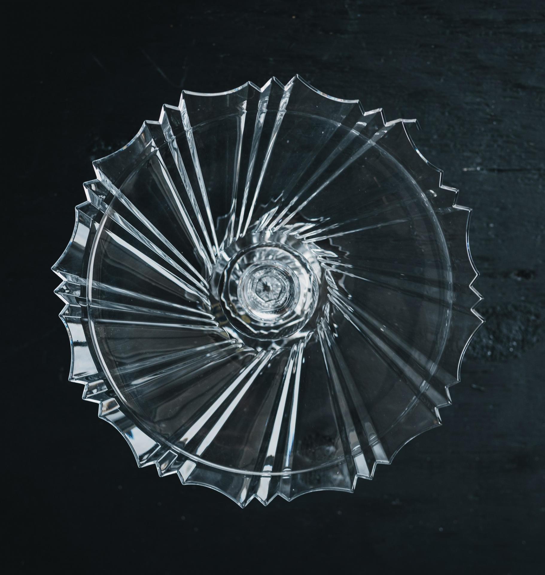 CRYSTAL BOHEMIA Křišťálový stojan na dort Sunray Crystal BOHEMIA, čirá barva, sklo