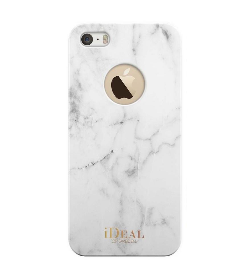 iDeal of Sweden Kryt na iPhone 5/5S/SE iDeal of Sweden White Marble, bílá barva, plast