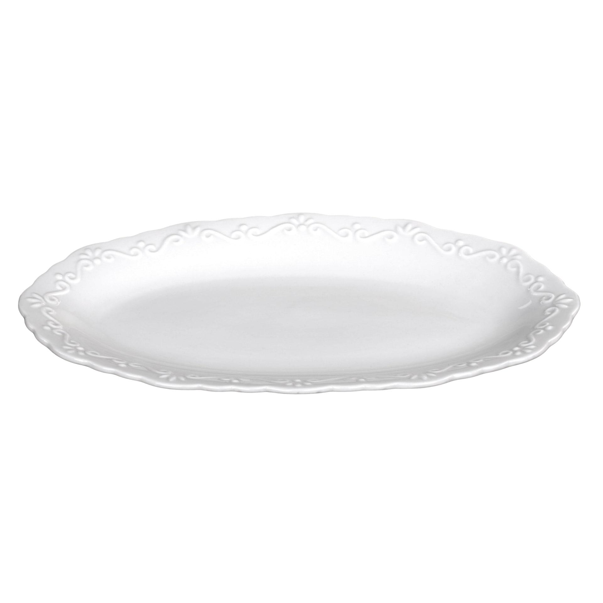 Chic Antique Porcelánový servírovací talířek Provence, bílá barva, porcelán