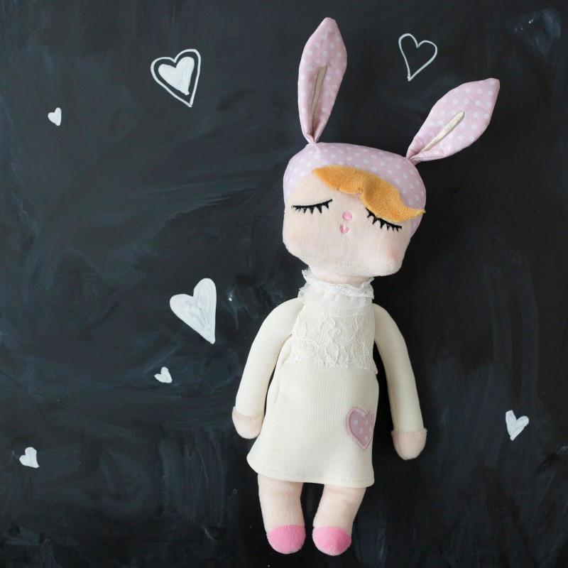 miniroom Králičí panenka Lille Kanin Snow White Medium, růžová barva, krémová barva, textil