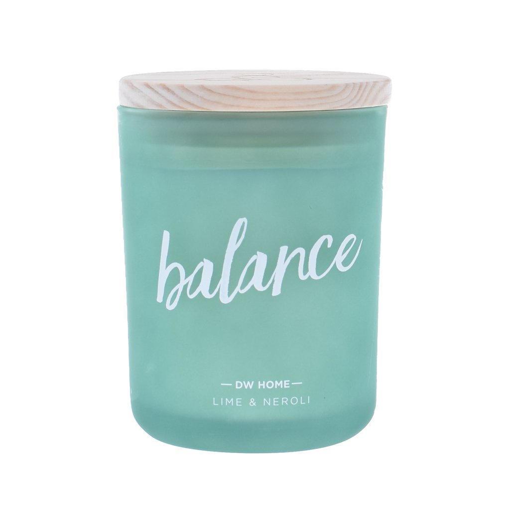 dw HOME Vonná svíčka Yoga - Balance 425gr, zelená barva, sklo, dřevo, vosk