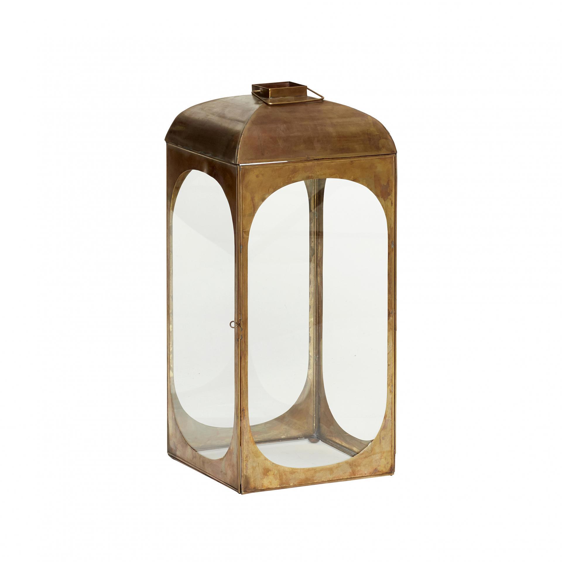 Hübsch Kovová lucerna Brass, měděná barva, kov
