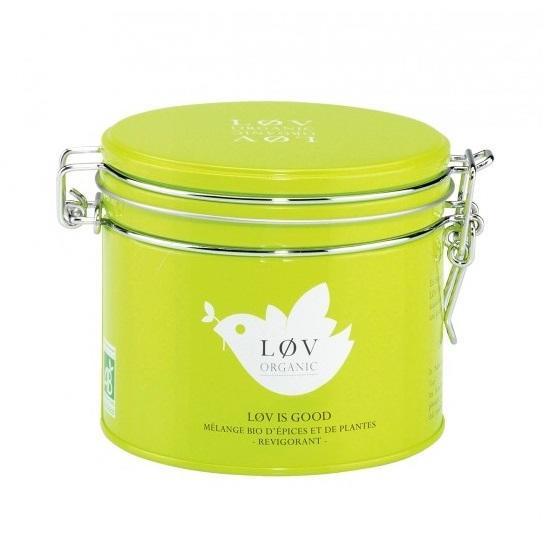 Løv Organic Kořeněný čaj Løv Is Good - 100 g, zelená barva, kov