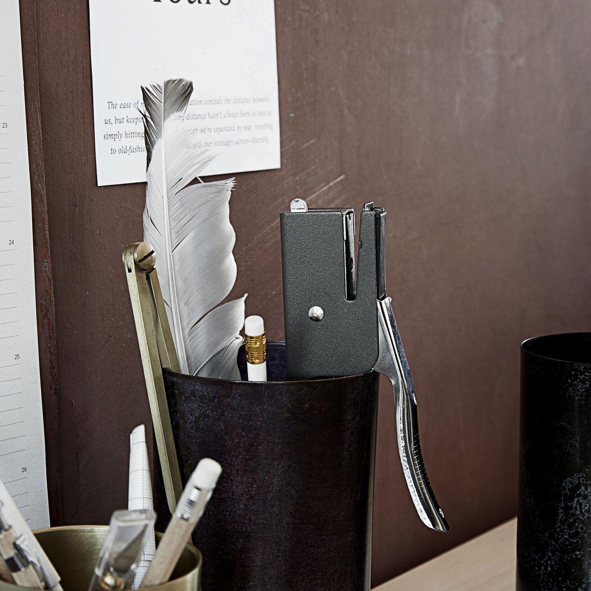 MONOGRAPH Sešívačka Dark Grey Office 20 cm, šedá barva, kov