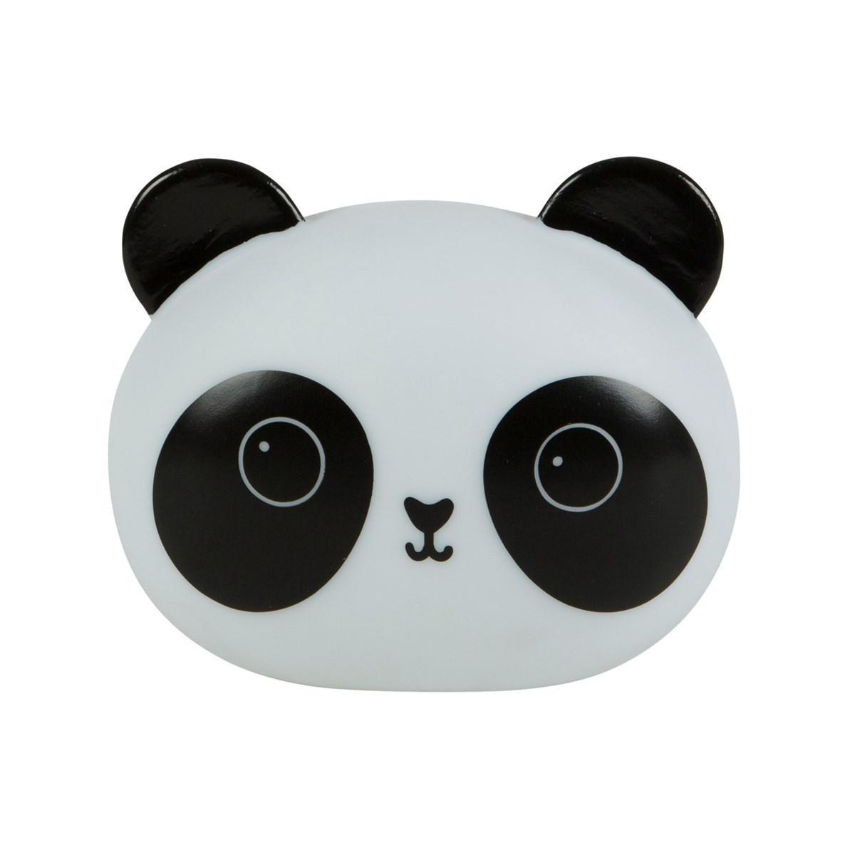 sass & belle Dětská noční LED lampička Panda, černá barva, bílá barva, plast