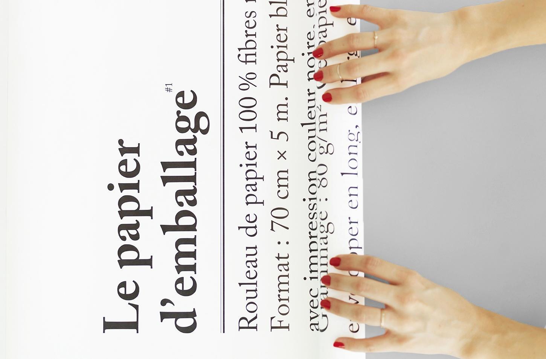 be-pôles Balicí papír Le Papier Emballage - 5 m, bílá barva, papír
