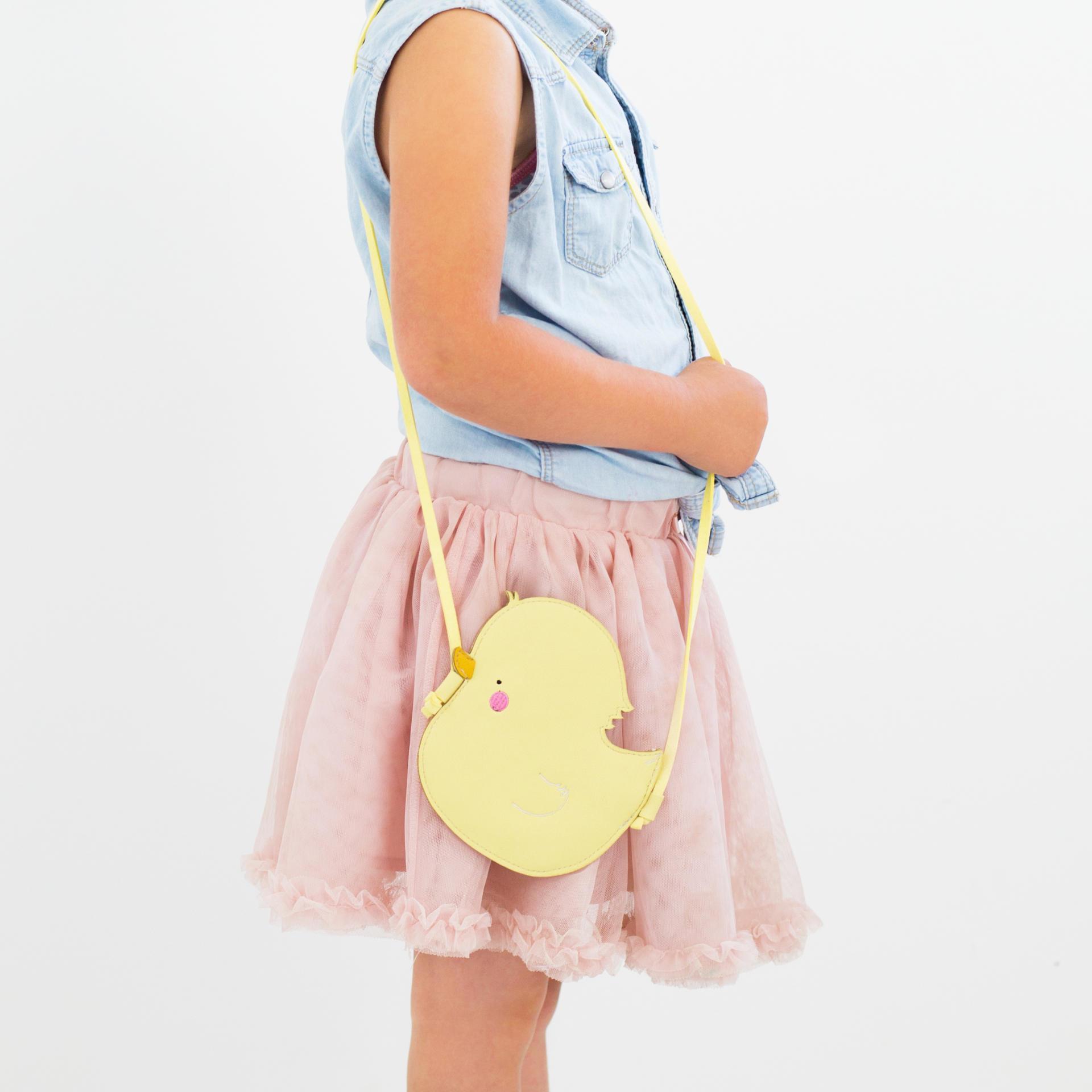 A Little Lovely Company Dětská kabelka Little Duck, žlutá barva, textil