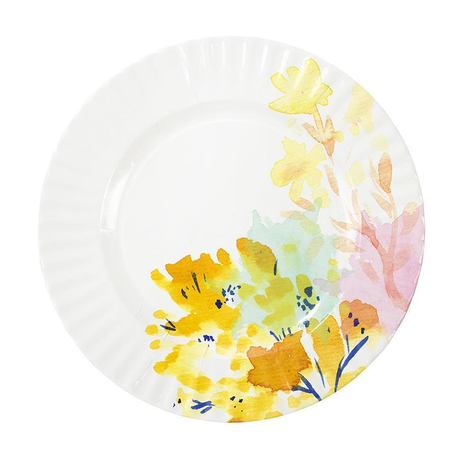Talking Tables Papírové talíře Floral Large - set 8 ks, bílá barva, multi barva, papír
