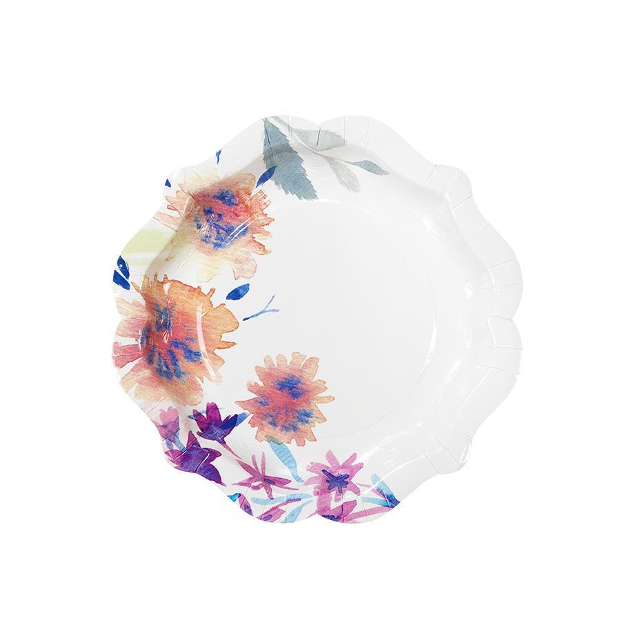 Talking Tables Papírové talířky Floral - set 12 ks, multi barva, papír