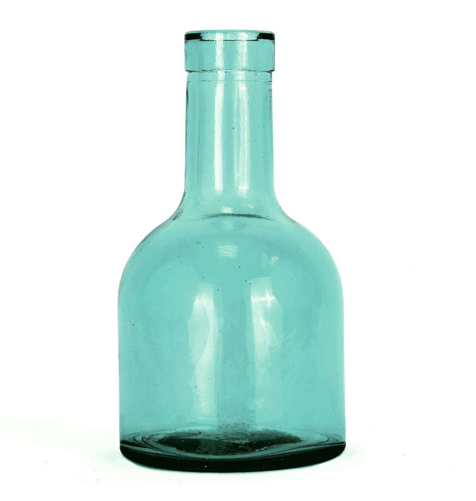 Skleněná vázička Aqua, modrá barva, sklo