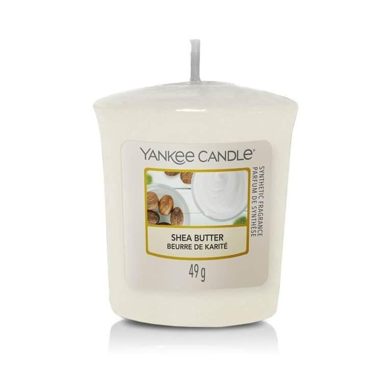 Yankee Candle Votivní svíčka Yankee Candle - Shea Butter, bílá barva, vosk