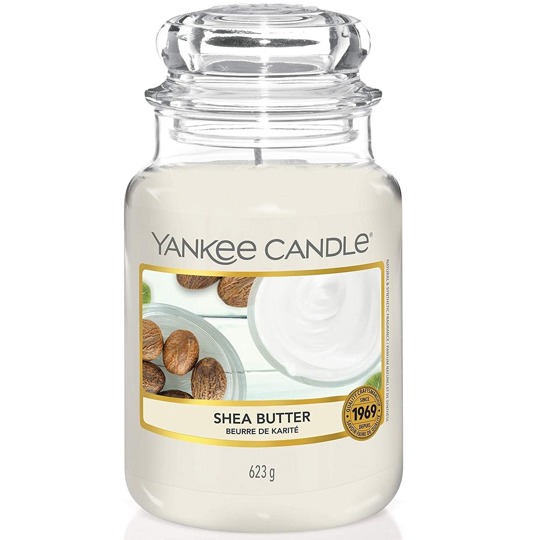 Yankee Candle Svíčka Yankee Candle 623gr - Shea Butter, bílá barva, sklo, vosk
