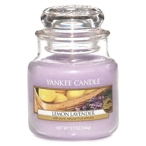 Yankee Candle Svíčka Yankee Candle 104gr - Lemon Lavender, fialová barva, sklo, vosk