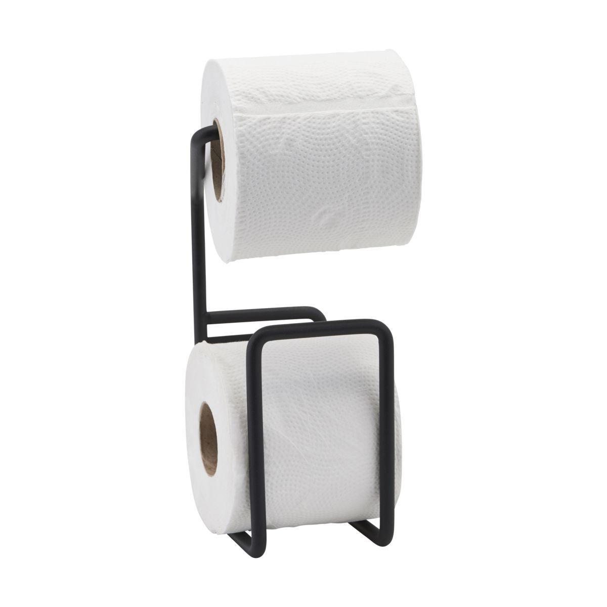 House Doctor Držák na toaletní papír Via Black, černá barva, kov