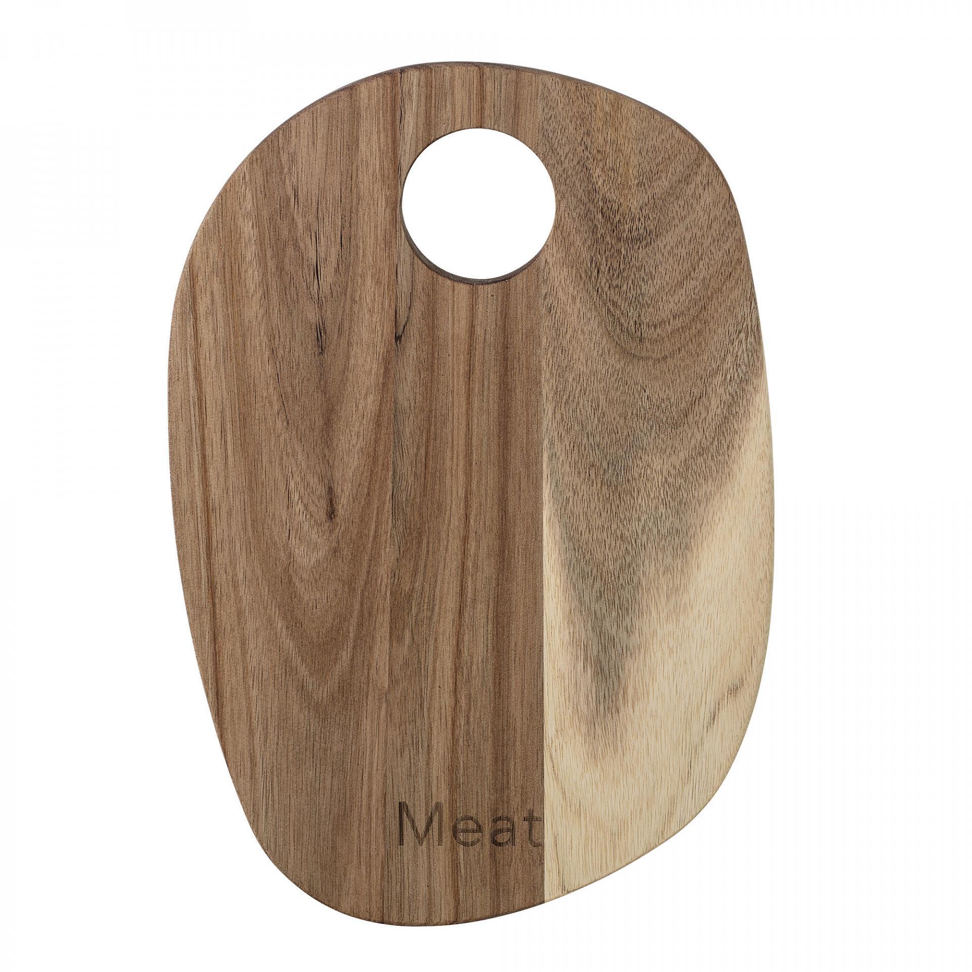 Bloomingville Krájecí prkénko Acacia podlouhlé, hnědá barva, dřevo