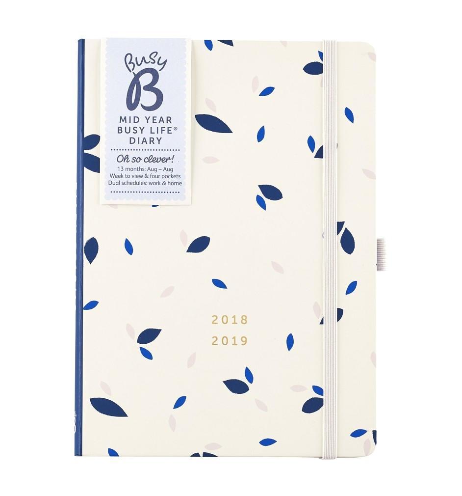 Busy B Diář Pretty Busy Life 2018/2019, modrá barva, papír