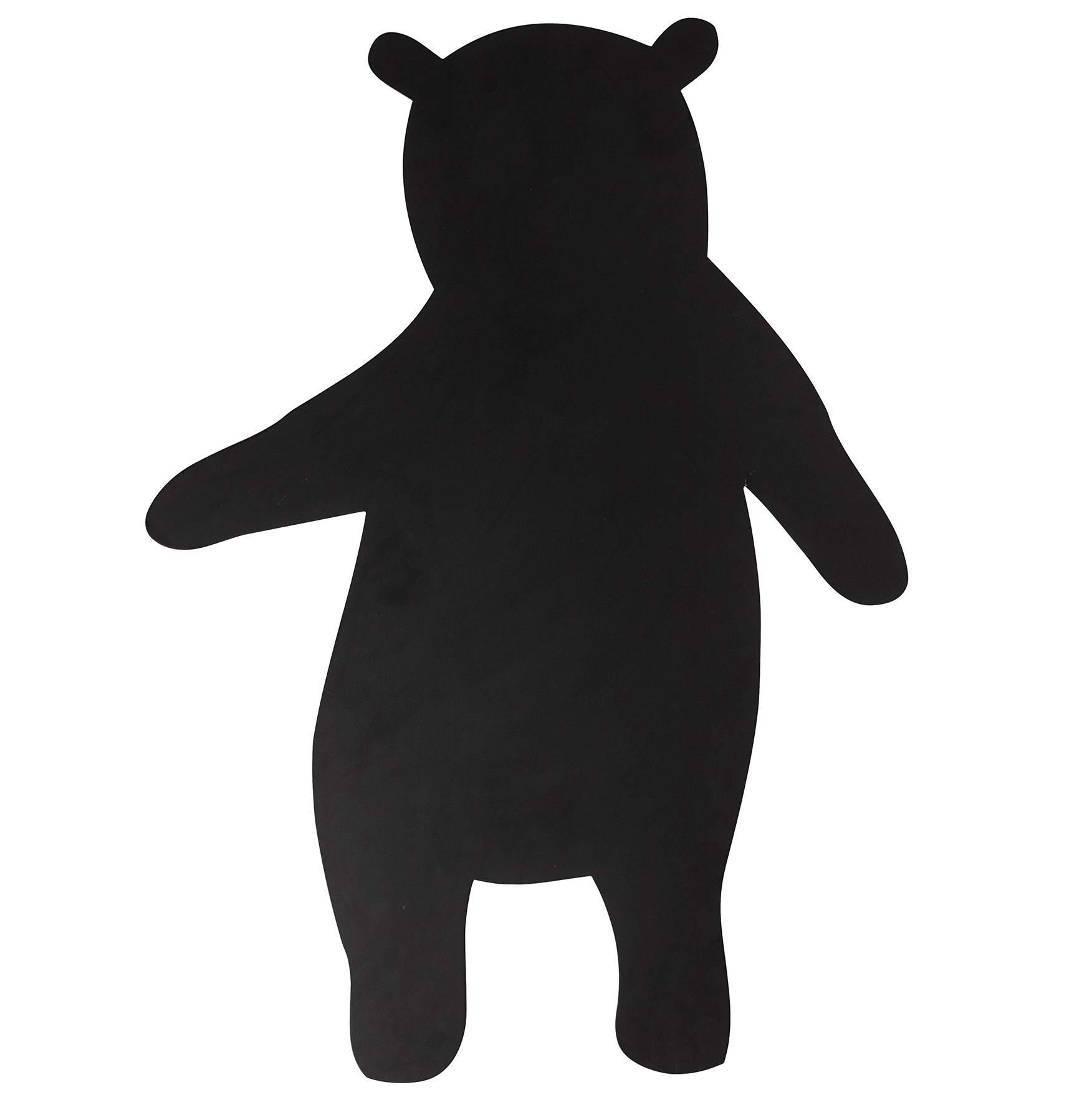 Bloomingville Dětská tabule Black Bear 100cm, černá barva, dřevo