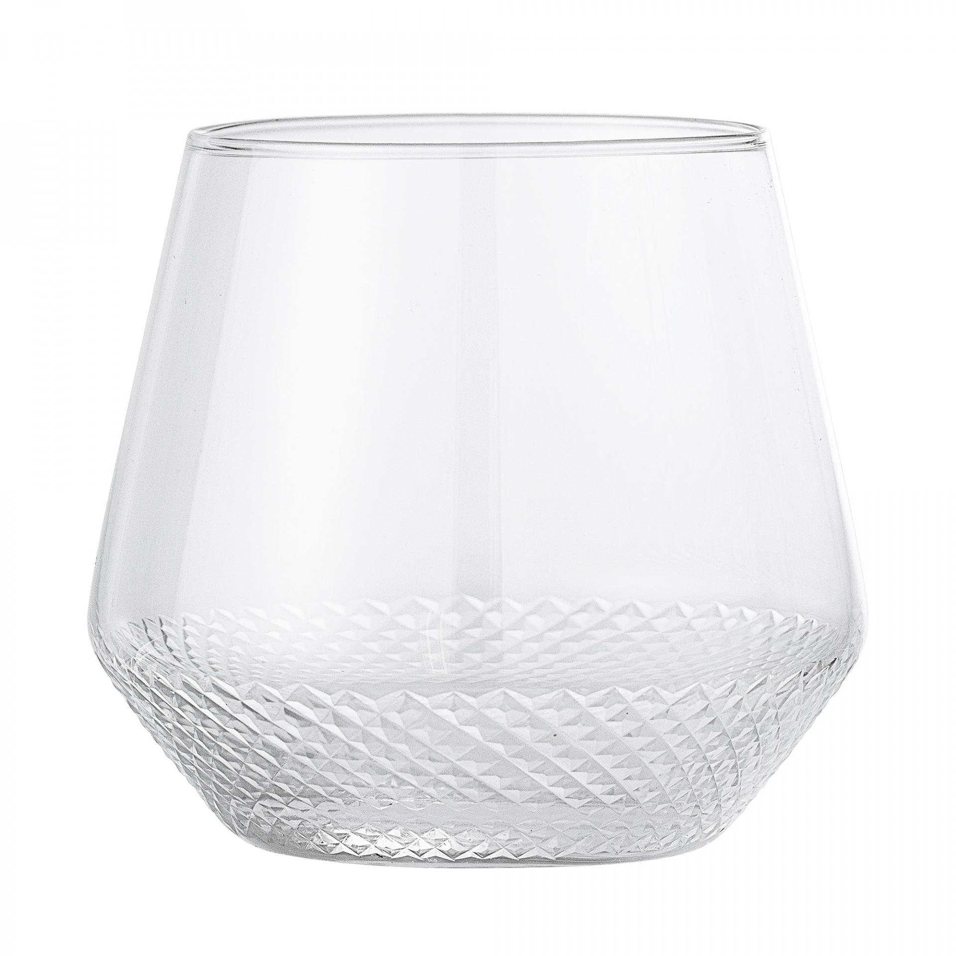 Bloomingville Sklenice na vodu Clear Glass, čirá barva, sklo 400 ml