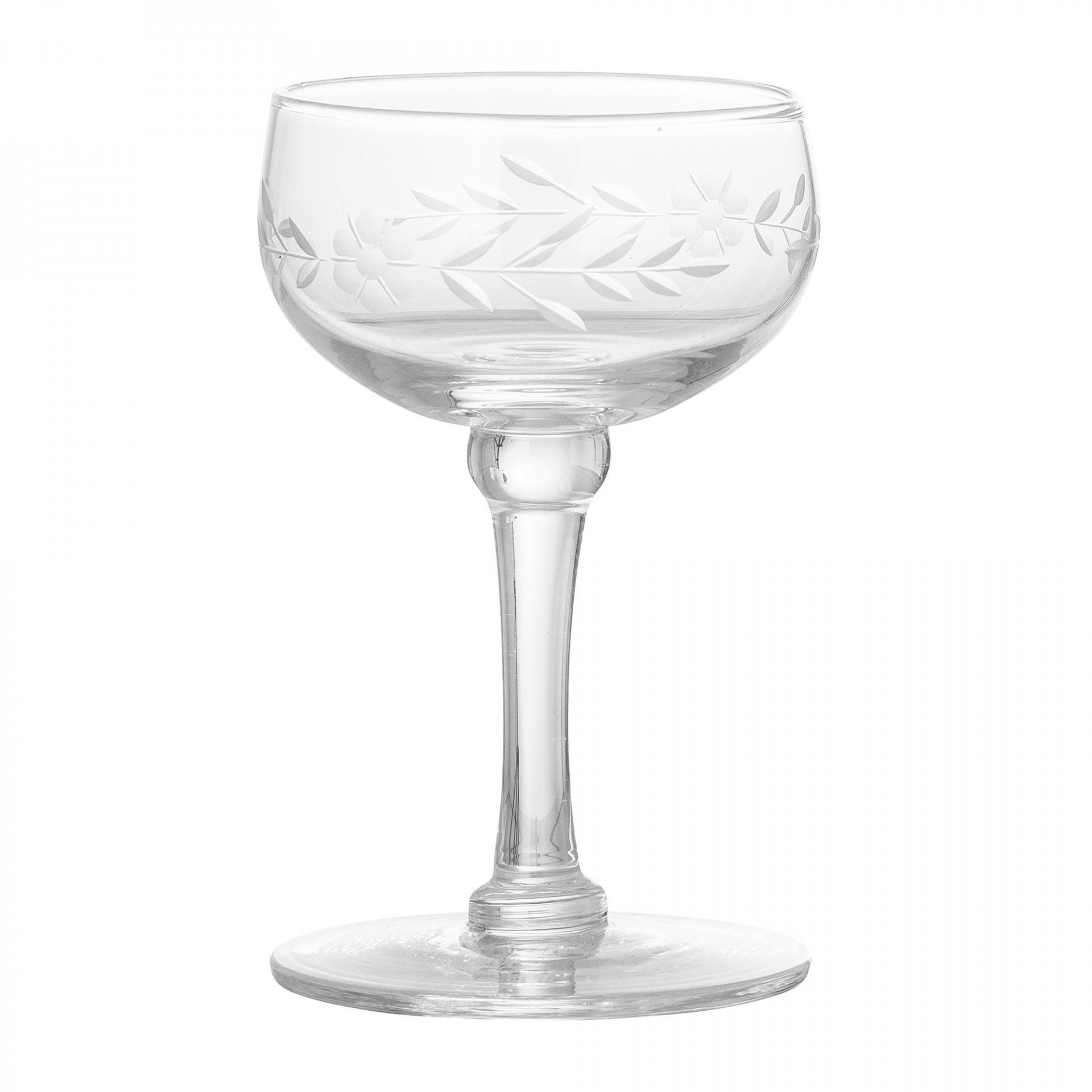 Bloomingville Sklenička na dezertní víno Clear Glass, čirá barva, sklo