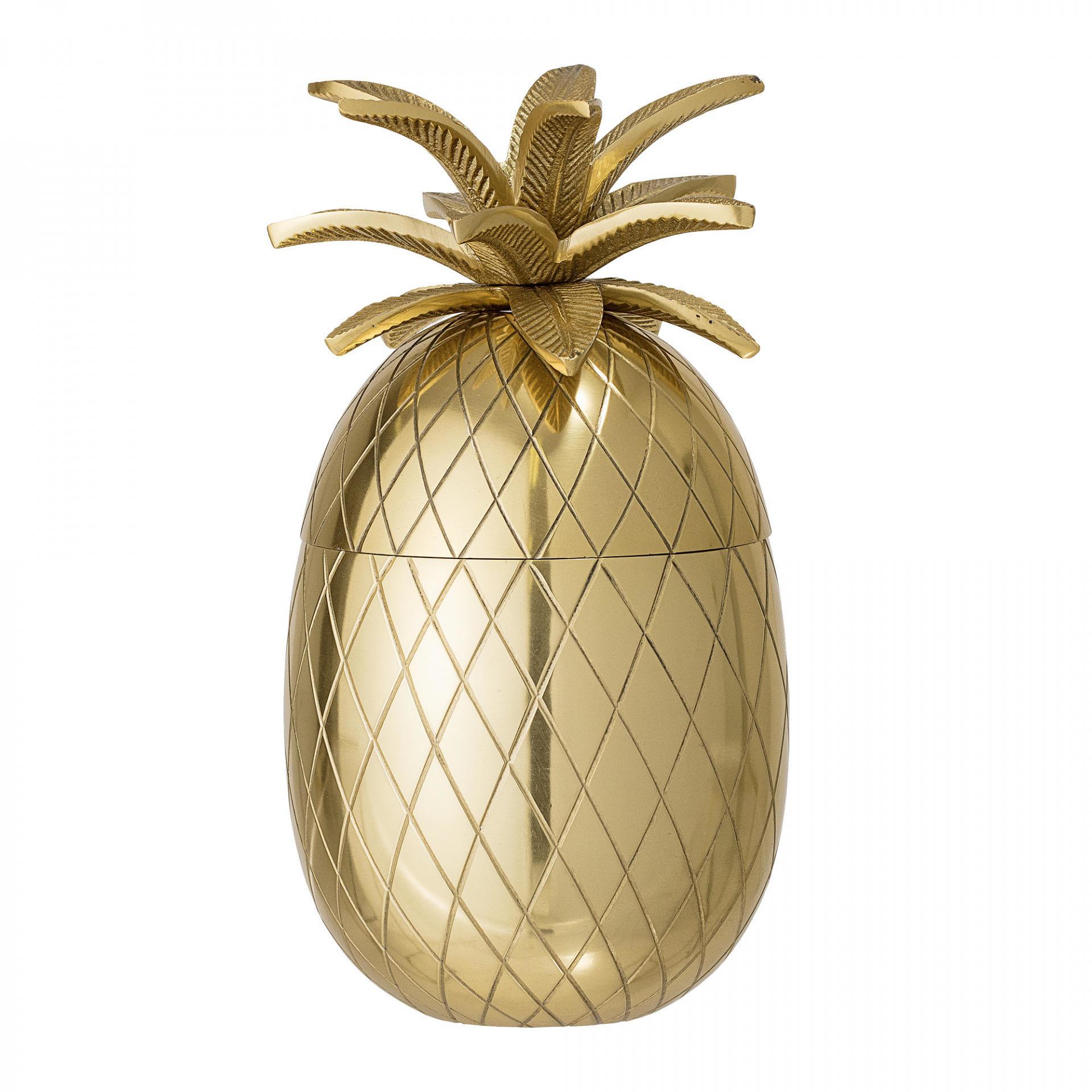Bloomingville Nádoba na led Pineapple Gold, zlatá barva, kov