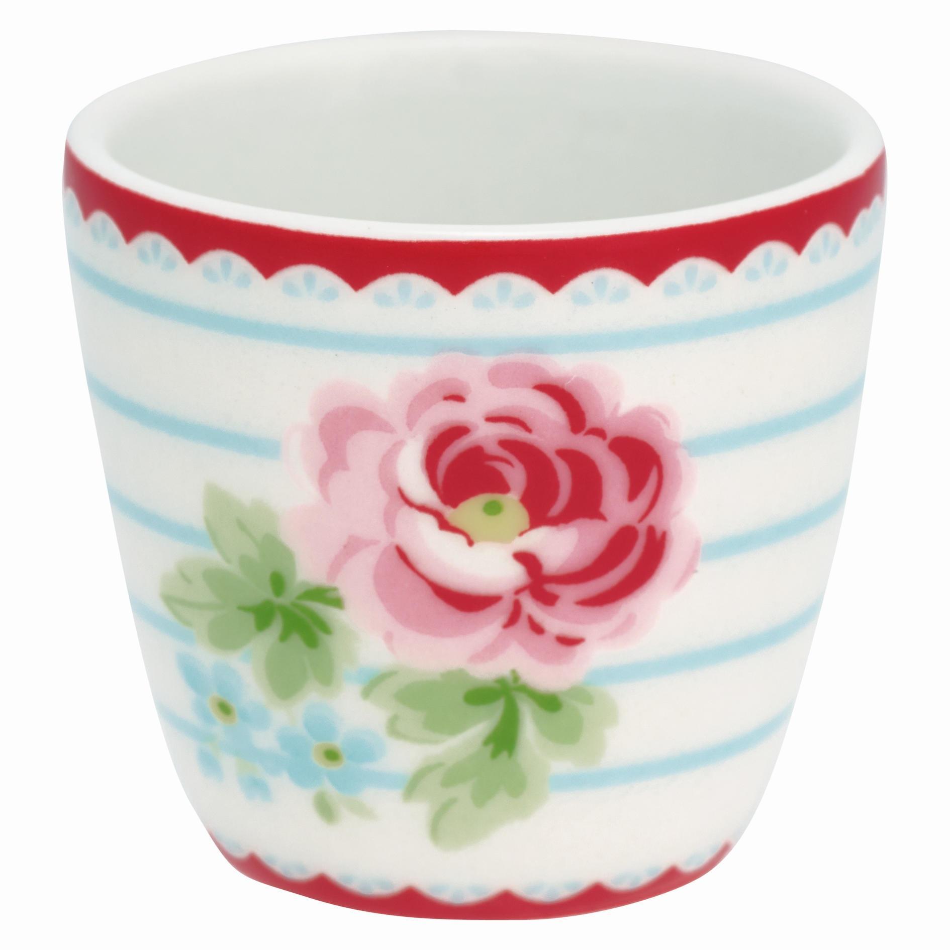 GREEN GATE Stojánek na vajíčko Lily white, růžová barva, porcelán