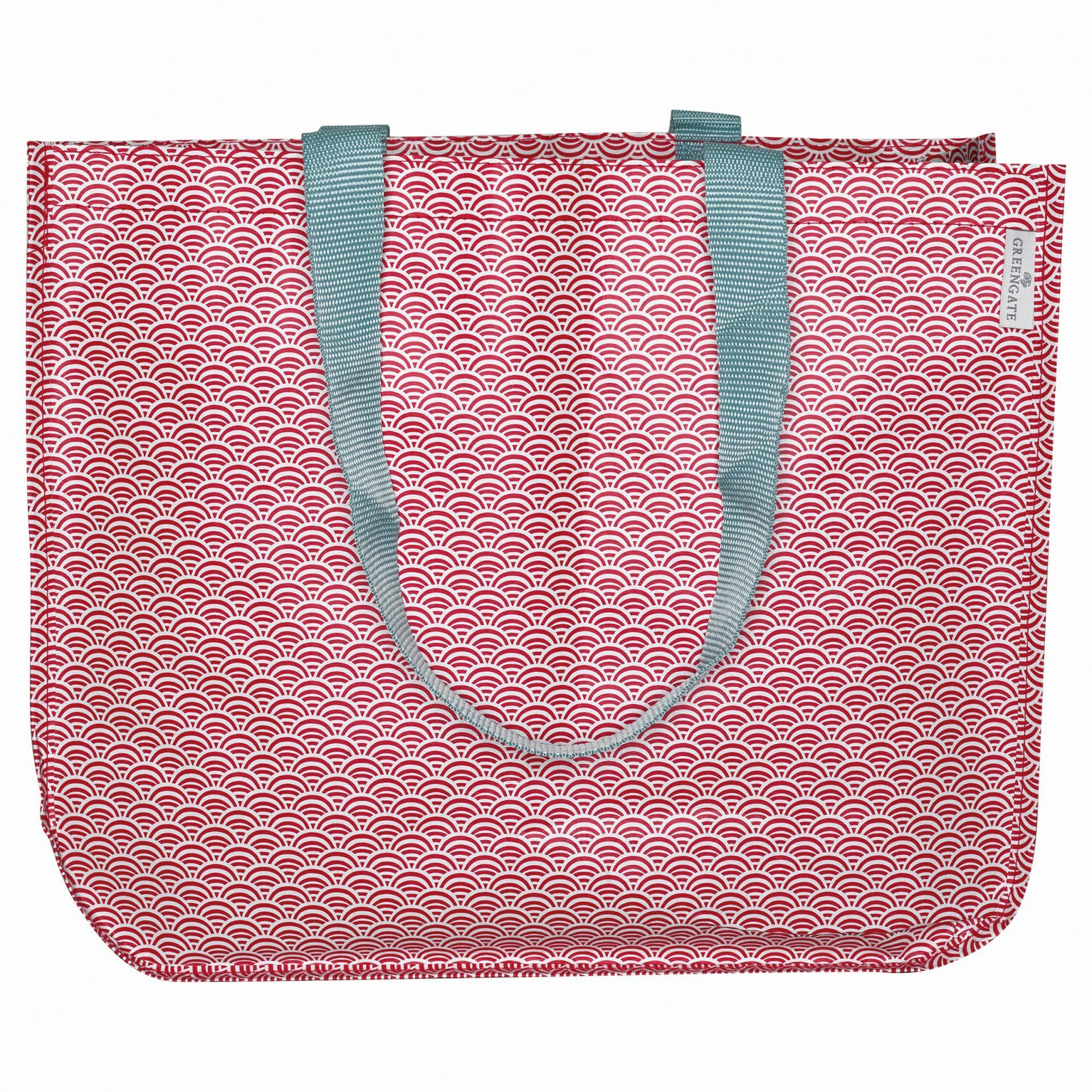 GREEN GATE Nákupní taška Nancy red, červená barva, plast