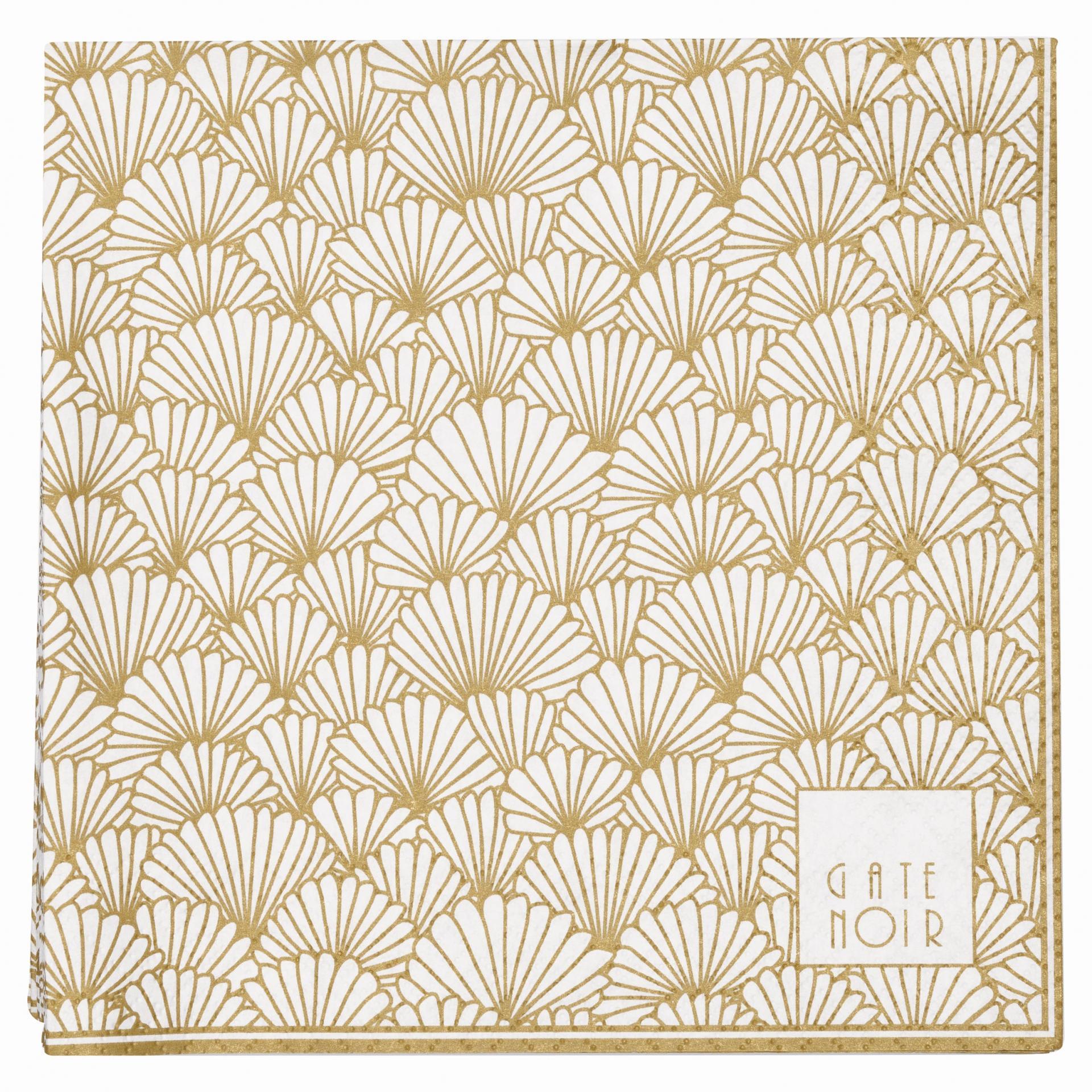 GREEN GATE Papírové ubrousky Jacqueline Gate Noir, zlatá barva, papír
